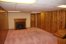 The basement! We'd originally planned to leave the pink shag carpeting (since it's only a play room) but when we got in we changed our minds, so it's coming out this week.